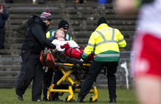 Hugh Pat Mcgeady leaves the field on a stretcher 18/3/2018