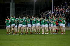 Mayo team stand during the national anthem  2/3/2019