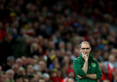 Martin O'Neill watches on late in the game 6/9/2018