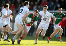 Cathal McNally and Mick O'Grady tackle Adam Gallagher 2/2/2014
