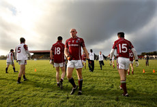 FBD Insurance League 17/1/2010. Galway . Darren Mullahy warms up with team-mates. Mandatory Credit ©INPHO/James Crombie