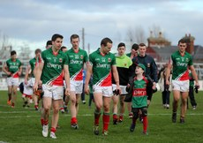 Mayo players return the dressing rooms 2/2/2014