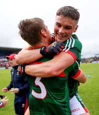 Colm Moran celebrates at the final whistle with Brian O'Malley 17/6/2018