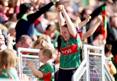 Mayo fans celebrate their side scoring a goal 1/7/2017