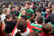 Aidan O'Shea poses for a photograph with supporters after the game 24/3/2019