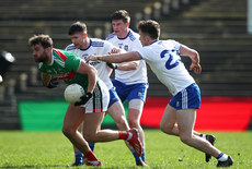 Aidan O'Shea is tackled by Karl O'Connell and Fintan Kelly 24/3/2019