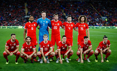 The Wales team 6/9/2018