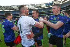 Robert Hennelly, Andy Moran and Conor Diskin celebrate 31/3/2019