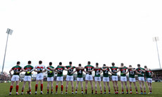 Mayo stand for the national anthem 25/3/2018