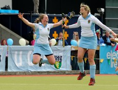 Brenda Flannery and Jeamie Deacon of UCD celebrate 13/5/2012