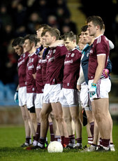 Galway team during the national anthem 2/3/2019