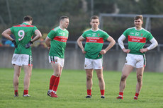 Diarmaid O'Connor, Andy Moran, James Kelly and Conor O'Shea dejected at the end of the game 13/1/2019