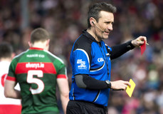 Maurice Deegan issues Colm Boyle a second yellow and red card 18/3/2018