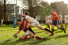 Donal Liddy is unable to stop Matt Darcy scoring a try  6/1/2019