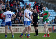 Derek O'Mahoney shows Fintan Kelly a red card 24/3/2019