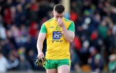 Paddy McBrearty dejected at the end of the game 25/3/2018