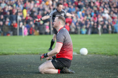 Rob Hennelly dejected at the end of the game 13/1/2019