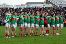 Mayo team during the national anthem  13/1/2019