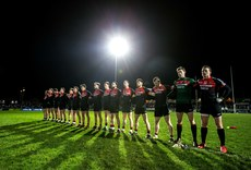 Mayo players stand together for the national anthem 11/2/2017