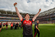 Lee Keegan celebrates after the game 26/8/2017