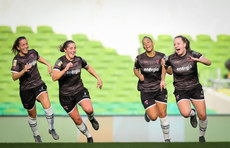 Lauren Kelly celebrates scoring her sides second goal  3/11/2019