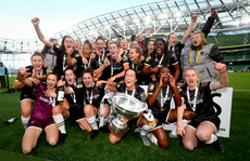 Wexford Youths celebrate with the trophy 3/11/2019