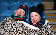 Ann Kelleher and Catrine Geraghty keep warm ahead of the game 3/2/2018