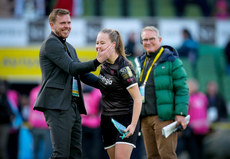 Lauren Kelly celebrates with Tom Elems after the game 3/11/2019