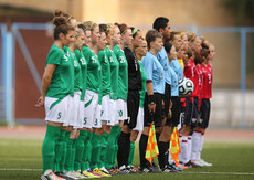 Ireland and Great Britain players line up 11/7/2013