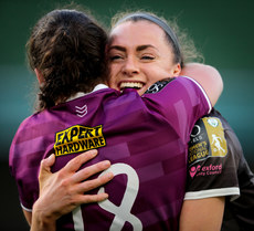 Lauren Dwyer celebrates with Niamh Dolland after the game 3/11/2019