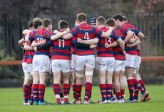 Clontarf team huddle before the game  26/1/2019