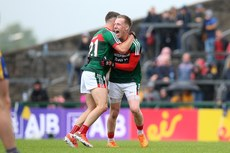 Ryan O'Donoghue celebrates at the final whistle with Colm Moran 17/6/2018