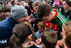 Lee Keegan signs autographs after the game 2/4/2017