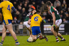 Sean McDermott is tackled by Fergal Boland 25/2/2017