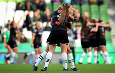 Lauren Kelly and Lynn Craven celebrate at the final whistle 3/11/2019