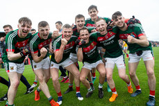 Mayo players celebrate winning 17/6/2018
