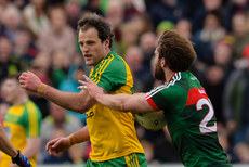 Aidan O'Shea and Michael Murphy tussle at the final whistle 2/4/2017