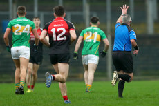James Molloy issues Leitrim a free as he signals that Mayo performed 4 hand passes 6/1/2019