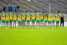 The Donegal team stand for the national anthem 2/4/2017