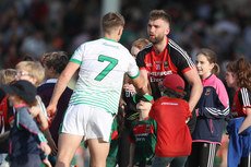 Aidan O'Shea shakes hands with Cillian Fahy after the game  9/6/2018