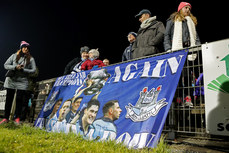 A view of a Dublin banner and supporters ahead of the match 24/2/2018