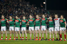 Mayo players line up for the National Anthem 24/2/2018