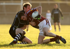 FBD Insurance League 17/1/2010. Galway vs Sligo. Galway\'s Owen Concannon and Noel Maguire of Sligo. Mandatory Credit ©INPHO/James Crombie