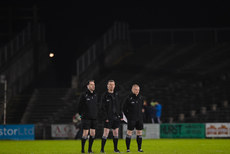 Joe McQuillan with the linesmen 25/2/2017