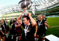 Orlaith Conlon celebrates with the trophy 3/11/2019