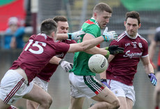 Thomas Flynn and Cillian McDaid tackle Conor Diskin 13/1/2019
