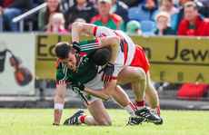 Ciaran McFaul gets in a tussle with Stephen Coen 1/7/2017