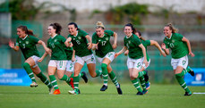 Ireland celebrate winning the penalty shoot-out 7/7/2019