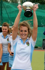 Laura Wilson of UCD lifts the cup 13/5/2012