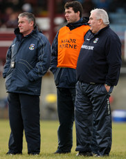 FBD Insurance League 17/1/2010. Galway  . Selector Tom Naughton and Sean O\'Domhnaill with manager Joe Kernan. Mandatory Credit ©INPHO/James Crombie